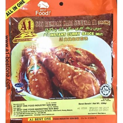 (2 PKTS HALAL) - A1 Instant Curry Paste / Sos Rempah Kari A1 (Ayam)